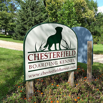Chesterfield Kennel sign